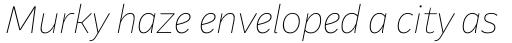 Aestetico Formal Thin Italic sample