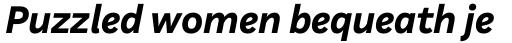 Aestetico Formal Bold Italic sample