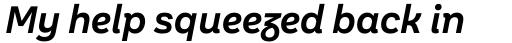 Aestetico Informal Semi Bold Italic sample