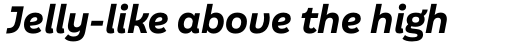 Aestetico Informal Bold Italic sample