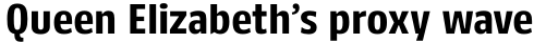 FF Kaytek Headline Bold sample
