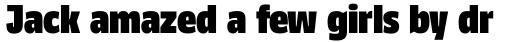 FF Kaytek Headline Extra Black sample