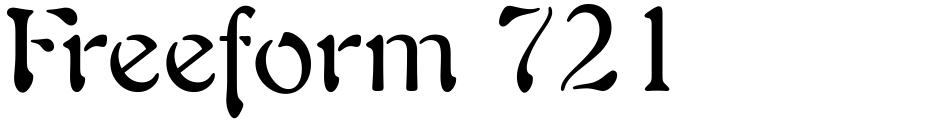 Click to view  Freeform 721 font, character set and sample text