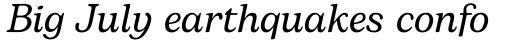 Bogart Italic sample