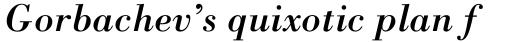 Bodoni Std Italic sample