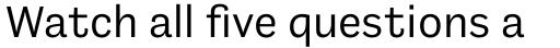 Barnet Sans Regular sample