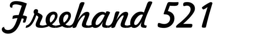 Click to view  Freehand 521 font, character set and sample text