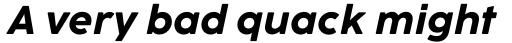 Cocogoose Pro Text Bold Italic sample