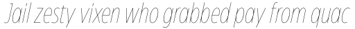 Eastman Condensed Compressed Thin Italic sample
