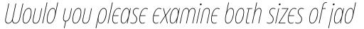 Eastman Condensed Compressed Alternate Extralight Italic sample