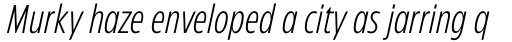 Eastman Condensed Compressed Light Italic sample