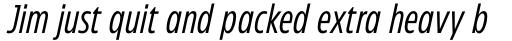 Eastman Condensed Compressed Italic sample