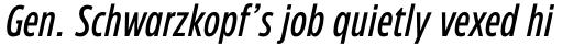 Eastman Condensed Compressed Medium Italic sample