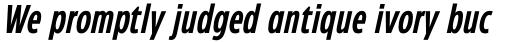 Eastman Condensed Compressed DemiBold Italic sample