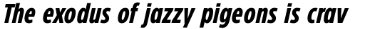 Eastman Condensed Compressed Bold Italic sample