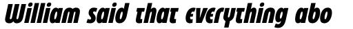 Eastman Condensed Compressed Alternate Extrabold Italic sample