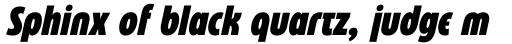 Eastman Condensed Compressed Alternate Black Italic sample