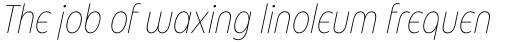 Eastman Condensed Alternate Extralight Italic sample