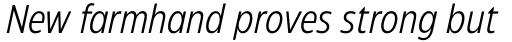 Eastman Condensed Offset Italic sample