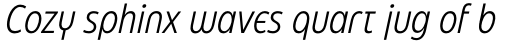Eastman Condensed Alternate Offset Italic sample