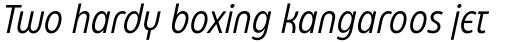 Eastman Condensed Alternate Italic sample