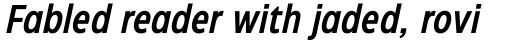 Eastman Condensed DemiBold Italic sample