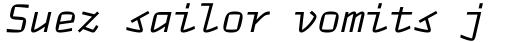 TT Autonomous Mono Italic sample