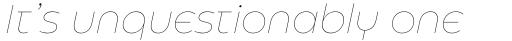 Eastman Roman Alternate Thin Italic sample