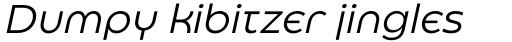 Eastman Roman Alternate Italic sample