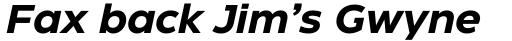 Eastman Roman Bold Italic sample