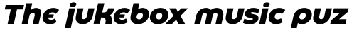 Eastman Roman Alternate Extrabold Italic sample