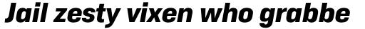 Duran Extrabold Italic sample