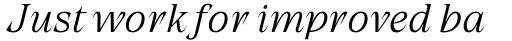 Grand Cru Extralight S Italic sample