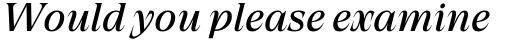 Grand Cru Regular S Italic sample