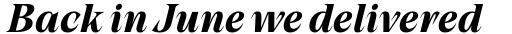 Grand Cru Bold S Italic sample