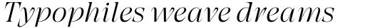 Grand Cru Extralight M Italic sample