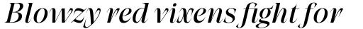 Grand Cru Regular M Italic sample