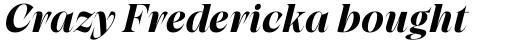 Grand Cru Bold M Italic sample