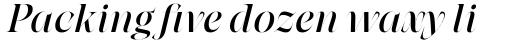 Grand Cru Regular L Italic sample