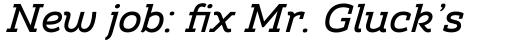 Amazing Slab Medium Italic sample