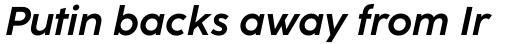 Coco Sharp Bold Italic sample