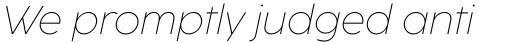 Coco Sharp L Extralight Italic sample