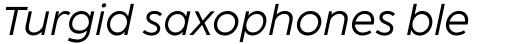 Coco Sharp XL Italic sample