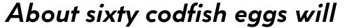 Coco Sharp XS Bold Italic sample