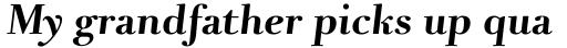 Pyke Display Bold Italic sample