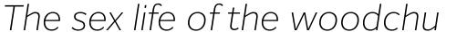 Inter Extra Light Italic sample