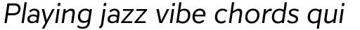 Inter Regular Italic sample