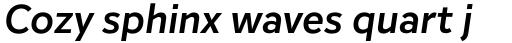 Inter Semi Bold Italic sample