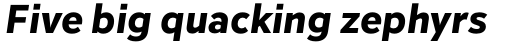 Inter Extra Bold Italic sample
