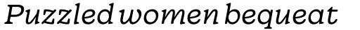Wonder Extralight Italic sample